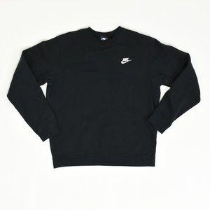 Nike Regular M Black  Sweatshirt Cotton Solid